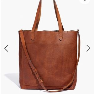 Madewell Medium Transport Tote - English Saddle
